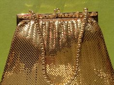 Vintage gold mesh whiting and Davis co 1940s Art Deco by Mamaphias, $169.00