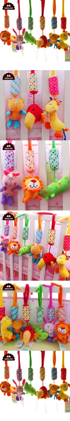 SHILOH 6 pcs New Infant Toys Mobile Baby Plush Toy Bed Wind Chimes Rattles Bell Toy Stroller for Newborn Superior