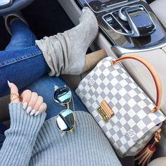 Outfit details. Louis Vuitton Croisette bag