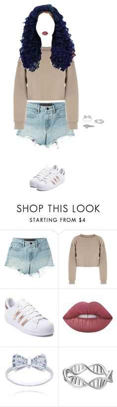 """""""⎡Cleaning the dorm for New Year's ~ Nix⎦"""" by melaniemartinez-icons ❤ liked on Polyvore featuring T By Alexander Wang, My Mum Made It, adidas, Lime Crime and David Yurman"""
