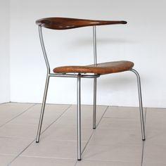 Wegner JH701 Design Elements, Bar Stools, Dining Chairs, Steel, Wood, Interior, Kitchen, Furniture, Vintage