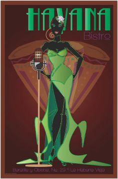 PinUp Girl Angelique Noire - fyblackwomenart: Artist: Kyla Evans