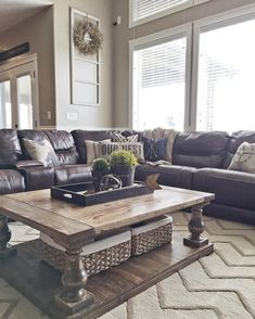 DIY Coffee Table Living Room Rug Sectional Couch