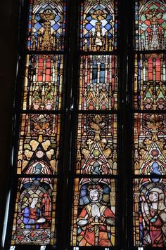 Stained glass window in the Augustinerkirche in Erfurt, Germany
