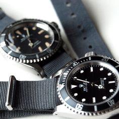 Rolex Submariner x 2 + NATO