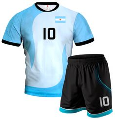 ACTIVE Argentina Volleyball Kit With Custom Name And Number