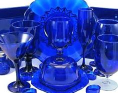 Cobalt blue glassware, of which I have scads thanks to my family, especially daughter-in-law Christine!