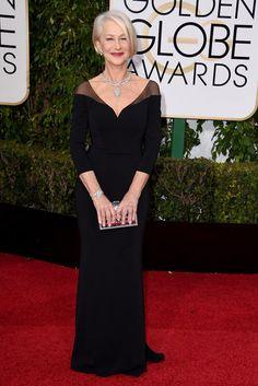 Helen Mirren in einer Robe von Badgley Mischka