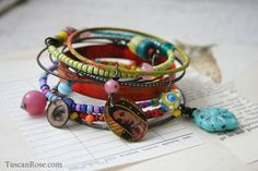 Guadalupe circus bracelets from an inspired website! Check out Patty Van Dorin's page and Tuscan Rose on Etsy!
