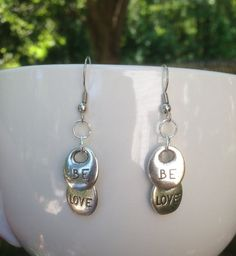 Be Love Drop Earrings by SweetfireCreations on Etsy Make You Smile, Etsy Shop, Make It Yourself, Drop Earrings, Love, Trending Outfits, Unique Jewelry, Handmade Gifts, Vintage