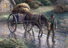 "Thomas Kinkade Signed and Numbered Limited Edition :""Emerald Valley"" - Thomas… Sacramento, Thomas Kinkade Art, Kinkade Paintings, Thomas Kincaid, Art Thomas, Horse Artwork, Decoupage, Winter Scenes, Types Of Art"
