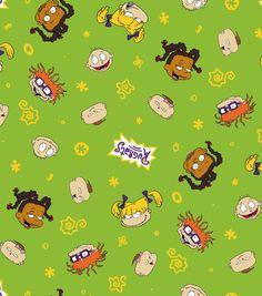 "Nickelodeon Rugrats Flannel Fabric 42"" - Character Toss Cute Patterns Wallpaper, Cute Disney Wallpaper, Retro Wallpaper, Cartoon Wallpaper, Wallpaper Backgrounds, Rugrats, Cartoon Profile Pics, 90s Cartoons, Classic Cartoons"