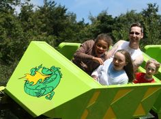 Family ride the 'Green Dragon' people powered rollercoaster at Greenwood Forest Park Pembrokeshire Coast Path, Family Holiday Destinations, Visit Wales, Uk Holidays, Holiday Break, Snowdonia, Luxury Camping, Forest Park