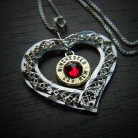 My Open Heart Sterling Silver Bullet Necklace