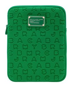 Marc by Marc Jacobs - Green Dreamy logo embossed tablet case