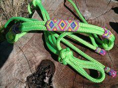 CUSTOM- Beaded Rope Halter, Horse Tack , Horse Halter, Custom Tack, hand beaded halter