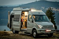 Outside Van's Powerstation is a rugged yet luxurious tiny home on wheels
