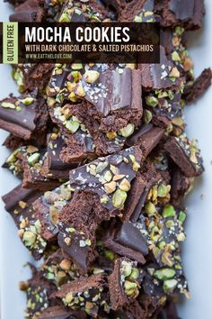 Mocha Cookies with Dark Chocolate and Salted Pistachios. /  Eat the Love. www.eatthelove.com