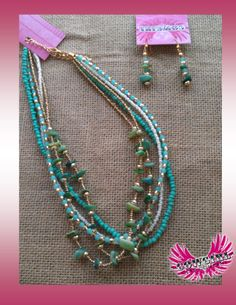 Love the colors and texture! Necklace $12.00 Earrings $8.00 www.facebook.com/cowgirlclad.branson
