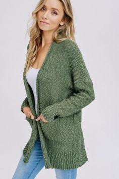 83f232d26a Slim Fit Popcorn Cardigan Sweater - Many Colors