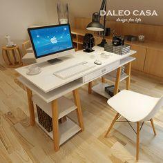 Daleo CASA diseñadores escandinavos escritorio escritorio escritorio IKEA estilo IKEA mesas de madera recomendado por el escritorio del estudiante