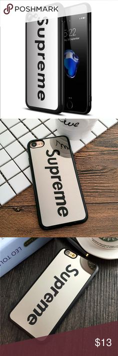 iPhone 7 Plus Cute Hybrid Supreme mirror case iPhone 7 Plus Cute Hybrid Supreme mirror case Brand new fashion high quality cute hybrid Supreme HD mirror case compatible for iPhone 7 Plus   Fashion, luxury, convenience, Shockproof, anti-knock, drip-proof, scratch-proof  Color: Black  Size: iPhone 7 Plus   Fast shipping  Please make sure you are purchasing the size case. Accessories