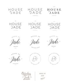 house of jade branding website interior design logosbranding