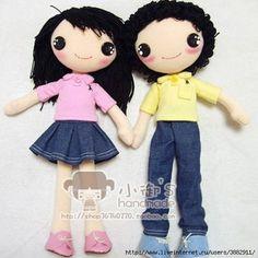Patrones para hacer una muñeca y muñeco de tela