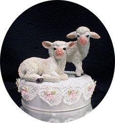 Cute Lamb Sheep Wedding Cake Topper Top Country Western Barn