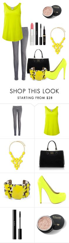 """""""lime and yellow"""" by helenaki65 ❤ liked on Polyvore featuring dVb Victoria Beckham, Mary Portas, Lulu Guinness, By Malene Birger, Sugarfree Shoes and shu uemura"""