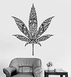 Wall Stickers Murals, Vinyl Wall Decals, Stoner Room, Stoner Art, Military Stickers, Weed Stickers, Hippie Home Decor, Room Essentials, Mural Art