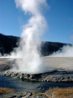 Geysers in Yellowstone National Park, USA