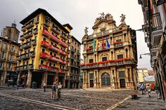 Pamplona, Spain- We were there for San Fermin Hispanic Countries, Pamplona Spain, Running Of The Bulls, Spain And Portugal, Spain Travel, Far Away, Places Ive Been, Travel Inspiration, To Go