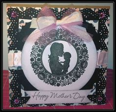 Mothers Day card created using a Flourishes Stamp set.