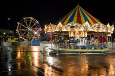 A rainy night for the Homecoming Carnival. Liberty University, Rainy Night, Homecoming, Carnival, Fair Grounds, Drawings, Carnavals, Sketches, Drawing
