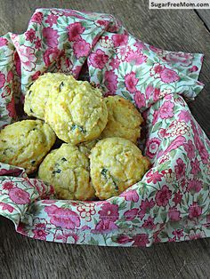 Gluten Free & Low Carb Cheddar Drop Biscuits/ sugarfreemom.com