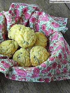 Gluten Free & Low Carb Cheddar Drop Biscuits/ sugarfreemom.com
