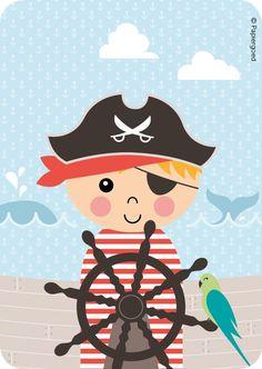 Papiergoed Uitnodigingen kinderfeestje Piraat