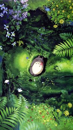 Studio Ghibli is a Japanese animation film studio founded in June 1985 by the directors **Hayao Miyazaki** and **Isao Takahata** and the producer. Art Studio Ghibli, Studio Ghibli Movies, Studio Ghibli Poster, Hayao Miyazaki, Animes Wallpapers, Cute Wallpapers, Studio Ghibli Background, Japon Illustration, My Neighbor Totoro