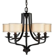 Dining Room? -- Hampton Bay 5-Light Hanging Oil-Rubbed Bronze Chandelier-ES0571OBR at The Home Depot