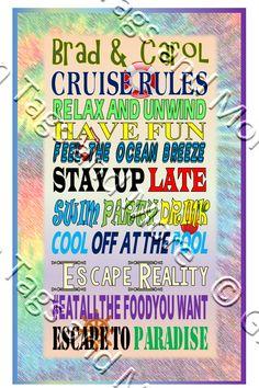 80e056acc Generic Retro Cruise Rules Door Magnet (Vinyl Magnet Option Available)