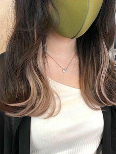 Hair Color Streaks, Hair Color Purple, Green Hair, Hair Color For Black Hair, Hair Highlights, Cool Hair Color, Hair Color Underneath, Highlights Underneath Hair, Hidden Hair Color