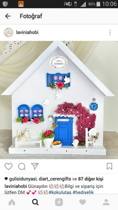 Cardboard Tree, Clay Art Projects, Vitrine Miniature, Miniature Crafts, Mural Art, Paper Quilling, Little Houses, Shadow Box, Painting On Wood