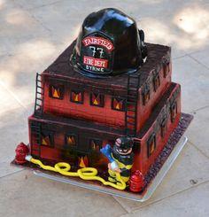 firefighter cakes   Fire fighter retirement cake
