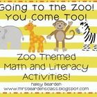 Zoo Math & Literacy Unit