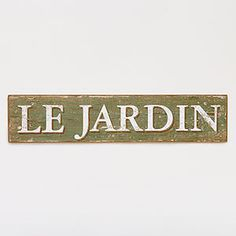 Le Jardin Sign | Wall Art and Decor| Home Decor | World Market