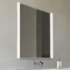 "Bathroom Lights For Mirrors sonneman sq-bar 40"" wide satin nickel led bath light 