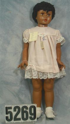 "Patti Play Pal dolls on facebook | Lot 5269: Black Patti Playpal size doll 35"", marked AE3651, black hair ..."