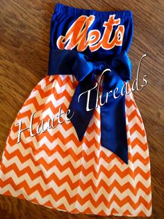 New York METS Baseball MLB Gameday Tube Dress by hautethreadsboutique, $70.00.  Ready to ship today!  www.hautethreadsboutique.blogspot.com
