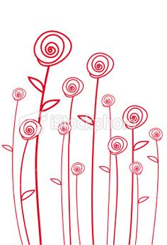 simple line drawings ( I could do something similar! Too pretty). Add a watercolour background.